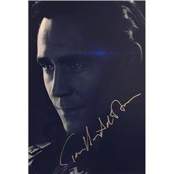 Avengers Endgame Tom Hiddleston Signed Photo