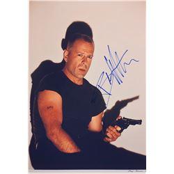 Pulp Fiction Bruce Willis Signed Photo