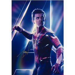 Avengers Infinity War Tom Holland Signed Photo
