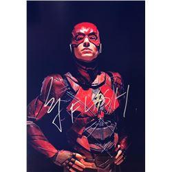 Justice League Ezra Miller Signed Photo