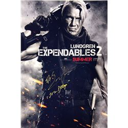 Expendables 2 Dolph Lundgren Signed Photo