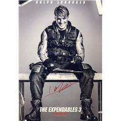 Expendables 3 Dolph Lundgren Signed Photo