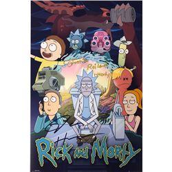 Rick n Morty Justin Roiland Signed Photo