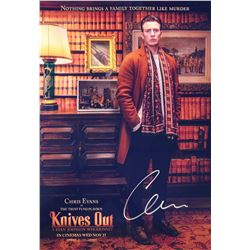 Knives Out Chris Evans Signed Photo