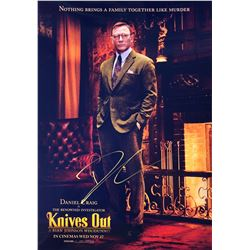 Knives Out Daniel Craig Signed Photo