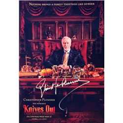 Knives Out Christopher Plummer Signed Photo