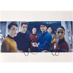 Star Trek Zoe Saldana Signed Photo