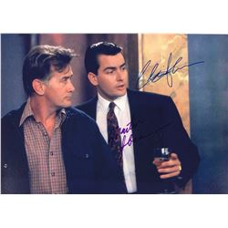 Wall Street Charlie Sheen Signed Photo