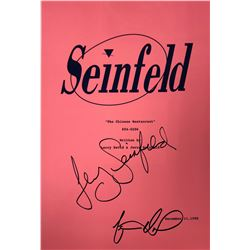 Seinfield Jerry Seinfield Signed Script Cover