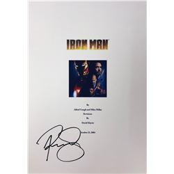 Iron Man Robert Downey Jr Signed Script Cover