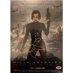 Mila Jovovich Autographed Signed Photo