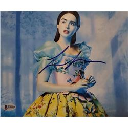 Lily Collins Autographed Signed Photo