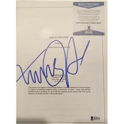 Michael J Fox Autographed Signed Script Cover