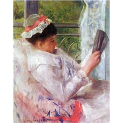 Mary Cassatt - Reading Mrs. (Lydia Cassat)