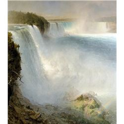 Frederic Edwin Church  - Niagra Falls from the American Side