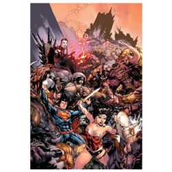"DC Comics, ""Superman/ Wonder Woman #17"" Numbered Limited Edition Giclee on Canva"