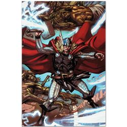 "Marvel Comics ""Thor: Heaven and Earth #3"" Numbered Limited Edition Giclee on Can"