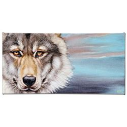 """""""Wolf"""" Limited Edition Giclee on Canvas by Martin Katon, Numbered and Hand Signe"""