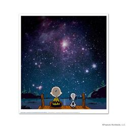 """Peanuts, """"Stars"""" Hand Numbered Limited Edition Fine Art Print with Certificate o"""