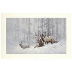 """Larry Fanning (1938-2014), """"Mountain Majesty - Bull Elk"""" Limited Edition Lithogr"""
