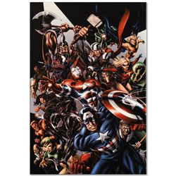 """Marvel Comics """"Avengers Assemble #1"""" Numbered Limited Edition Giclee on Canvas b"""