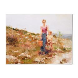 """Pino (1939-2010), """"Close to Home"""" Artist Embellished Limited Edition on Canvas ("""