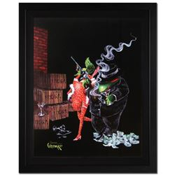 "Michael Godard, ""Ollie Capone"" Framed Limited Edition on Canvas, Numbered and Si"