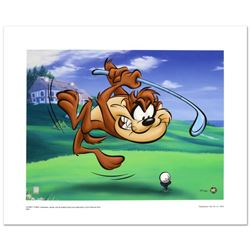 """Taz Tee Off"" Limited Edition Giclee from Warner Bros., Numbered with Hologram S"