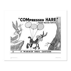 """Compressed Hare"" Numbered Limited Edition Giclee from Warner Bros. with Certifi"