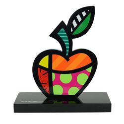 """Romero Britto""""Big Apple"""" Hand Signed Limited Edition Sculpture; Authenticated."""