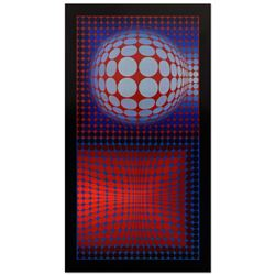 """Victor Vasarely (1908-1997), """"VP Host"""" Heliogravure Print, Titled Inverso."""