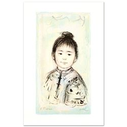 """""""Nina"""" Limited Edition Lithograph by Edna Hibel (1917-2014), Numbered and Hand S"""