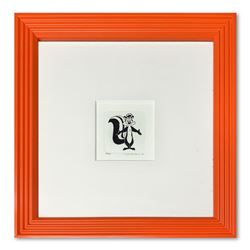 """""""Pepe le Pew"""" Framed Limited Edition Etching with Hand-Tinted Color and Numbered"""