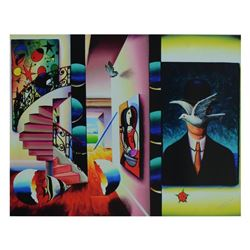 """Ferjo, """"Man in the Bowler Hat"""" Limited Edition on Canvas, Numbered and Signed wi"""