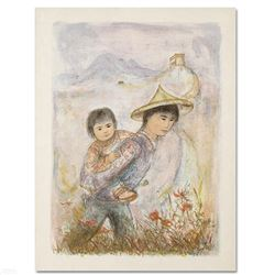 """""""The Great Wall"""" Limited Edition Lithograph by Edna Hibel (1917-2014), Numbered"""