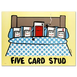 """Five Card Stud"" Limited Edition Lithograph by Todd Goldman, Numbered and Hand S"