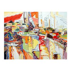 "Natalie Rozenbaum, ""Marina Reflections"" Limited Edition on Canvas, Numbered and"