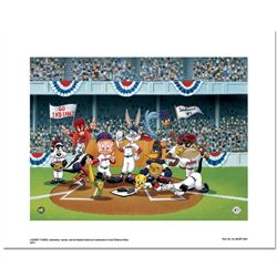 """""""Line Up At The Plate (Indians)"""" is a Limited Edition Giclee from Warner Brother"""