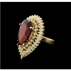 14KT Yellow Gold 15.72 ctw Ruby and Diamond Ring