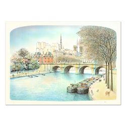 """Rolf Rafflewski, """"Seine II"""" Limited Edition Lithograph, Numbered and Hand Signed"""