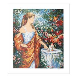 """Igor Semeko, """"Tea Time"""" Hand Signed Limited Edition Serigraph with Letter of Aut"""