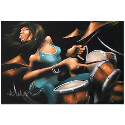 """""""Lola Beats"""" Limited Edition Giclee on Canvas by David Garibaldi, R Numbered and"""