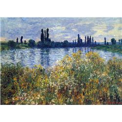 Claude Monet - Seine Shores at Vetheuil