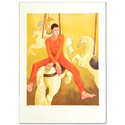 """Carousel"" Limited Edition Lithograph by Daniel Riberzani, Numbered and Hand Sig"