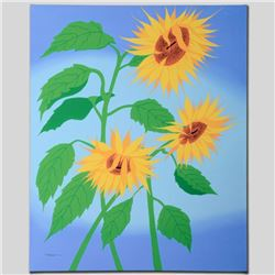 """Summer Sunflowers"" Limited Edition Giclee on Canvas by Larissa Holt, Numbered a"