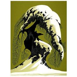 "Eyvind Earle (1916-2000), ""Snow Laden"" Limited Edition Serigraph on Paper; Numbe"