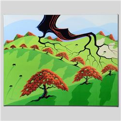 """Fall Fields"" Limited Edition Giclee on Canvas by Larissa Holt, Numbered and Sig"