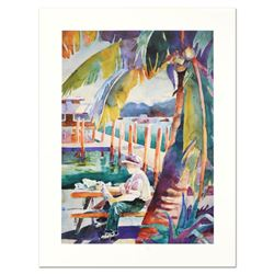 """Sissi Janku, """"Dockside Catch"""" Limited Edition Lithograph, Numbered and Hand Sign"""