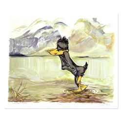 "Chuck Jones ""September Morn"" Hand Signed Limited Edition Fine Art Stone Lithogra"