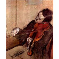 Edgar Degas - The Violinist #1